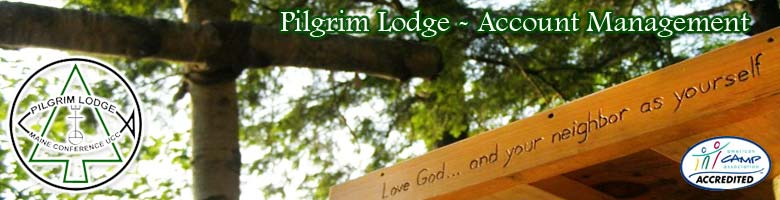 Pilgrim Lodge - Account Management